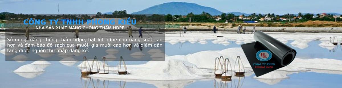 Ứng dụng màng chống thấm HDPE trong sản xuất và thu hoạch ruộng muối