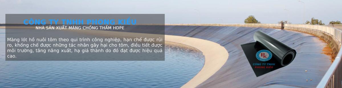 màng chống thấm HDPE trong hồ nuôi trồng thuỷ sản, tôm cá
